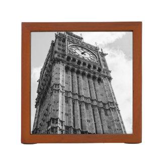 Black and White Big Ben Photograph, London Pencil/Pen Holder