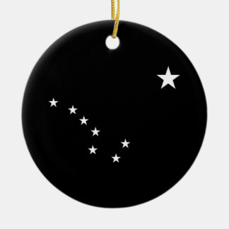 Black and White Big Dipper Christmas Ornament