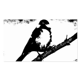 Black and White Bird Image Pack Of Standard Business Cards