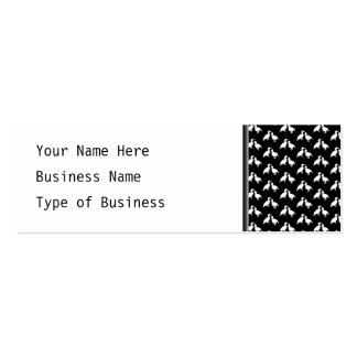 Black and White Bird Pattern. Pack Of Skinny Business Cards