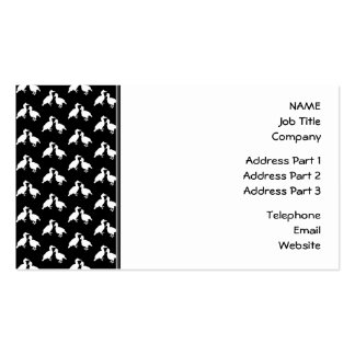 Black and White Bird Pattern. Pack Of Standard Business Cards