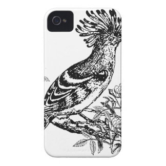 Black And White Bird Sketch iPhone 4 Case