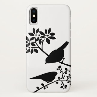 Black and White Birds iPhone X Case