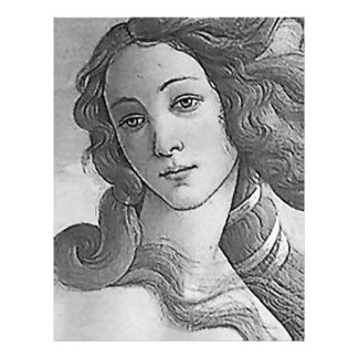 Black and White - Birh of Venus, Goddess 21.5 Cm X 28 Cm Flyer