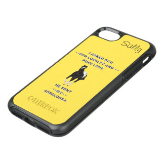 Black and White Blanket Appaloosa Personalized OtterBox Symmetry iPhone 8/7 Case