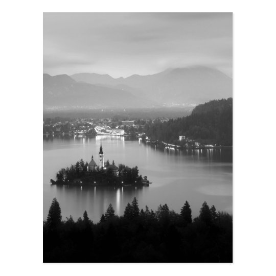 Black and White Bled Postcard