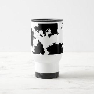 Black And White Blobs Stainless Steel Travel Mug