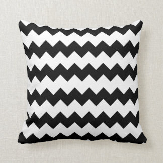 Black and White Block Chevron Pillow