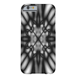 Black and white blurred pattern barely there iPhone 6 case