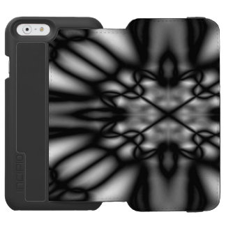 Black and white blurred pattern incipio watson™ iPhone 6 wallet case