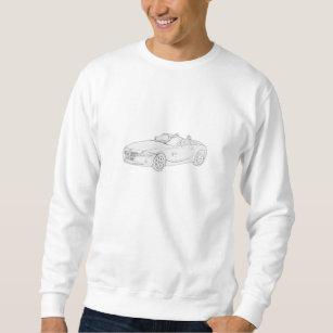 bmw hoodies sweatshirts zazzle co uk 2018 BMW E36 black and white bmw z4 pencil style drawing men s sweatshirt