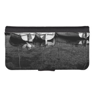 Black And White Boats In Water iPhone 5 Wallets