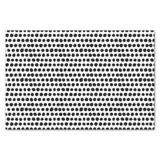 Black and White Bold Polka Dot pattern Tissue