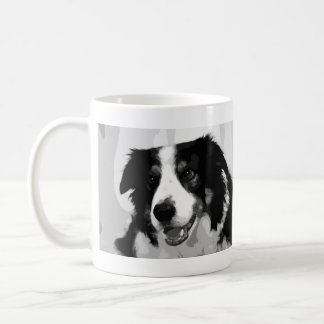 Black and White Border Collie Dog Gift Mug