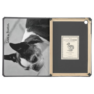 Black and White Boston Terrier Cover For iPad Air