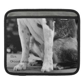 Black and White Boston Terrier ipad Sleeve