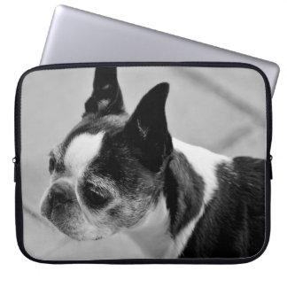 Black and White Boston Terrier Laptop Computer Sleeve