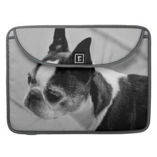 Black and White Boston Terrier MacBook Pro Sleeve