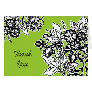 Black and White Bouquet Thank You Card