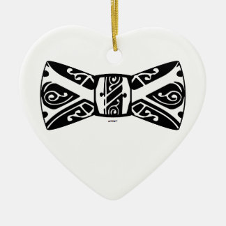 Black and White Bow Tie Christmas Ornament