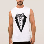 Black and White Bow Tie with Tux Sleeveless Shirts