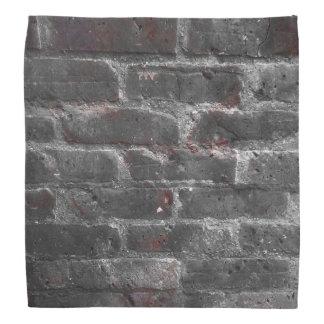 Black and white bricks bandana