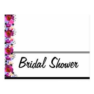 Black and White Bridal Shower Postcard