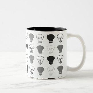 Black and White Bright ideas Two-Tone Coffee Mug