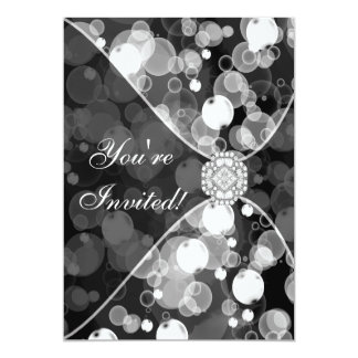 Black and White Bubble Party Invitation Template