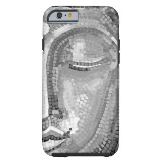 Black and White Buddha Face Tough iPhone 6 Case