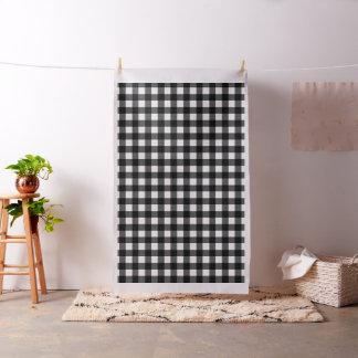Black and White Buffalo Check Fabric