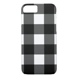 Black and White Buffalo Check Phone Case