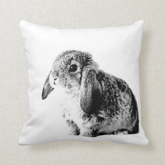 Black and White Bunny Cushion