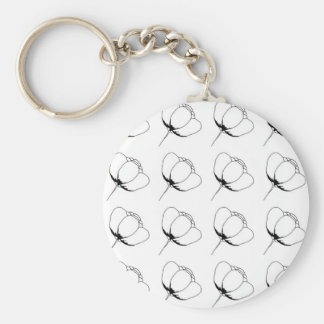 black and white buttercup key ring