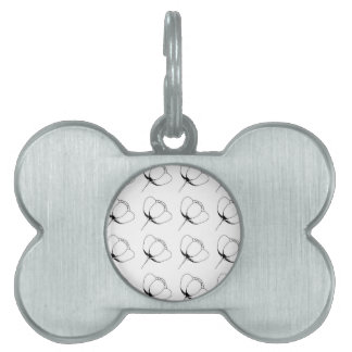 black and white buttercup pet name tag