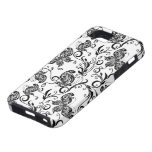 Black And White Butterflies  And Swirls Pattern iPhone 5 Covers