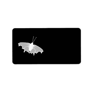 Black and White Butterfly Design. Label