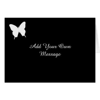Black and White Butterfly Evening Invite Card