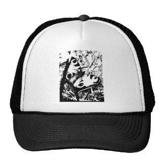 Black and White Butterfly Trucker Hats
