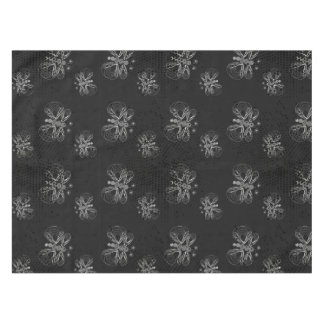 Black and white butterfly pattern with halftones tablecloth