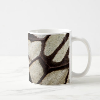 Black and white butterfly wing coffee mug