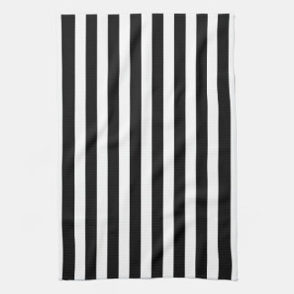 Black and White Cabana Stripe Tea Towels