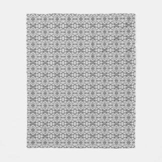 Black and White Caladium Fleece Blanket
