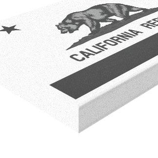 Black and White California Republic Flag Canvas Prints