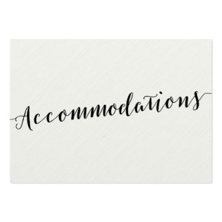 Black And White Calligraphy Accommodation Cards Pack Of Chubby Business Cards