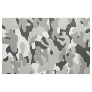 Black and White Camouflage Fabric