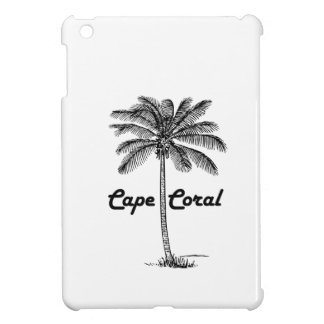 Black and White Cape Coral & Palm design Case For The iPad Mini