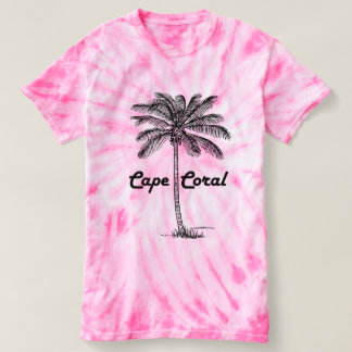 Black and White Cape Coral & Palm design T-Shirt