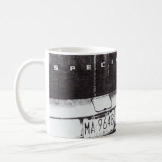 Black and white car coffee mug