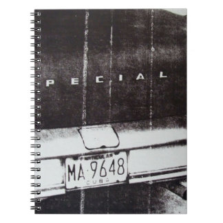 Black and white car notebook